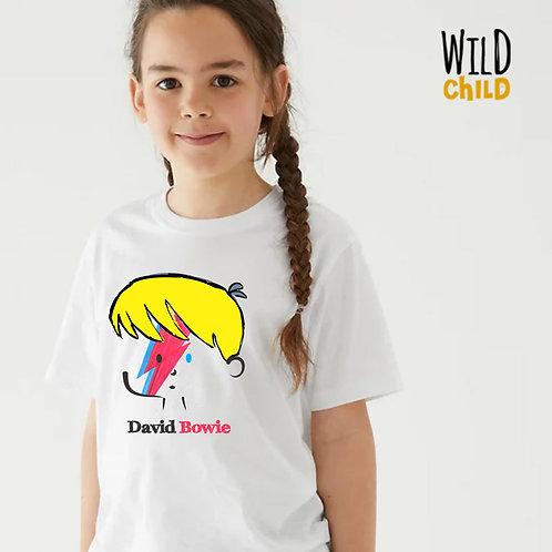 Camiseta Infantil David Bowie - Wild Child