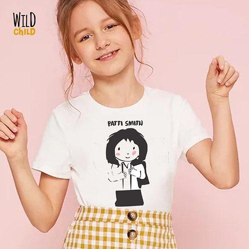 Camiseta Infantil Patti Smith - Wild Child