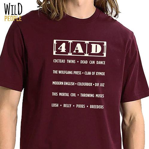 Camiseta 4AD Records - Silk Digital
