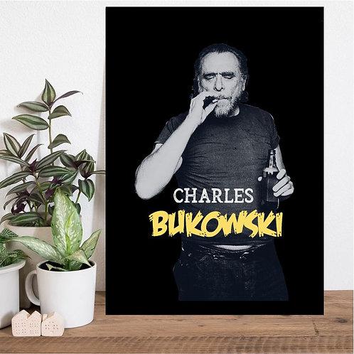 Quadro Charles Bukowski - Coleção Escritores & Poetas