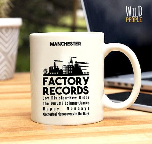 Caneca Factory Records - Porcelana 300 ML