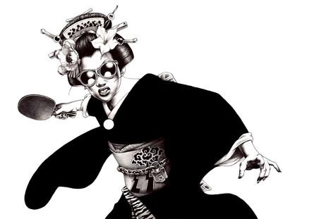 Ping Pong Geisha by Shohei Otomo