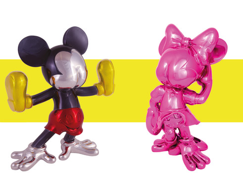 Freaky Mouse Multicrome & Meanie Fucsia by FIDIA