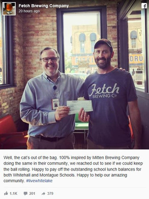 Fetch Brewing Pays of Local Student's Lunch Debt