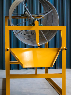 Discharge Side of Sand Cleaning Trommel