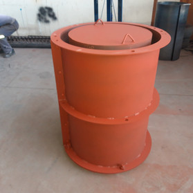 Cement Pipe Mold - Full View Side