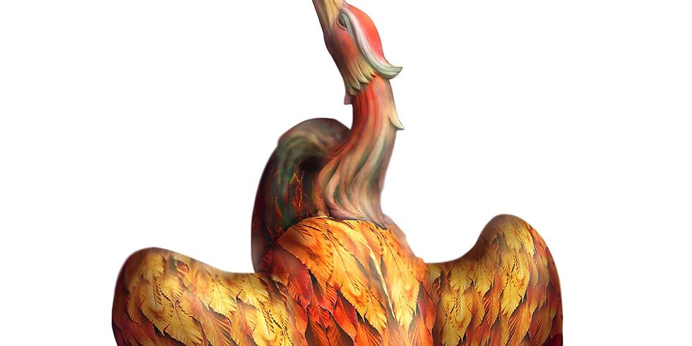 Főnixmadár születése Herendi porcelánból