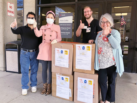 圆满完成UC Health donation - 8000只医用口罩