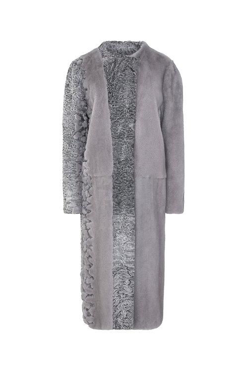 Пальто из норки и каракуля