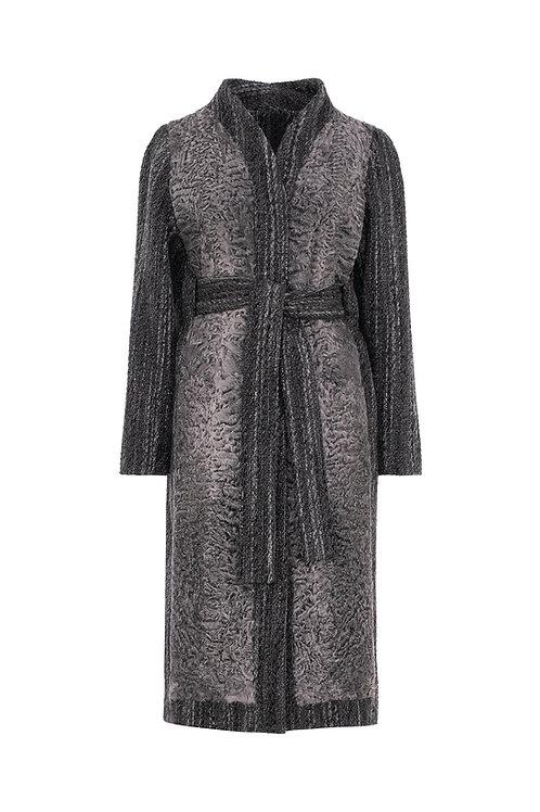 Пальто из каракуля и шерсти