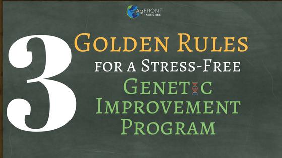 Reglas de Oro para el Mejoramiento Genético por la Dra. Elisa Marques