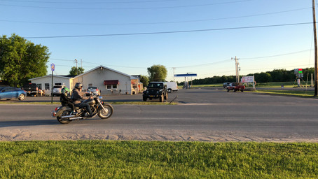 Our son's first motorcycle ride