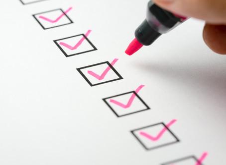 Checklist antes da estrada