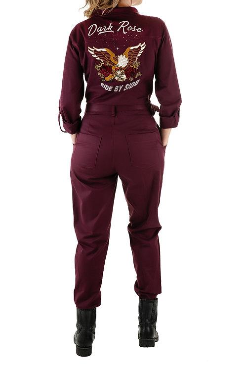 Dark Rose Jumpsuit - Long sleeve