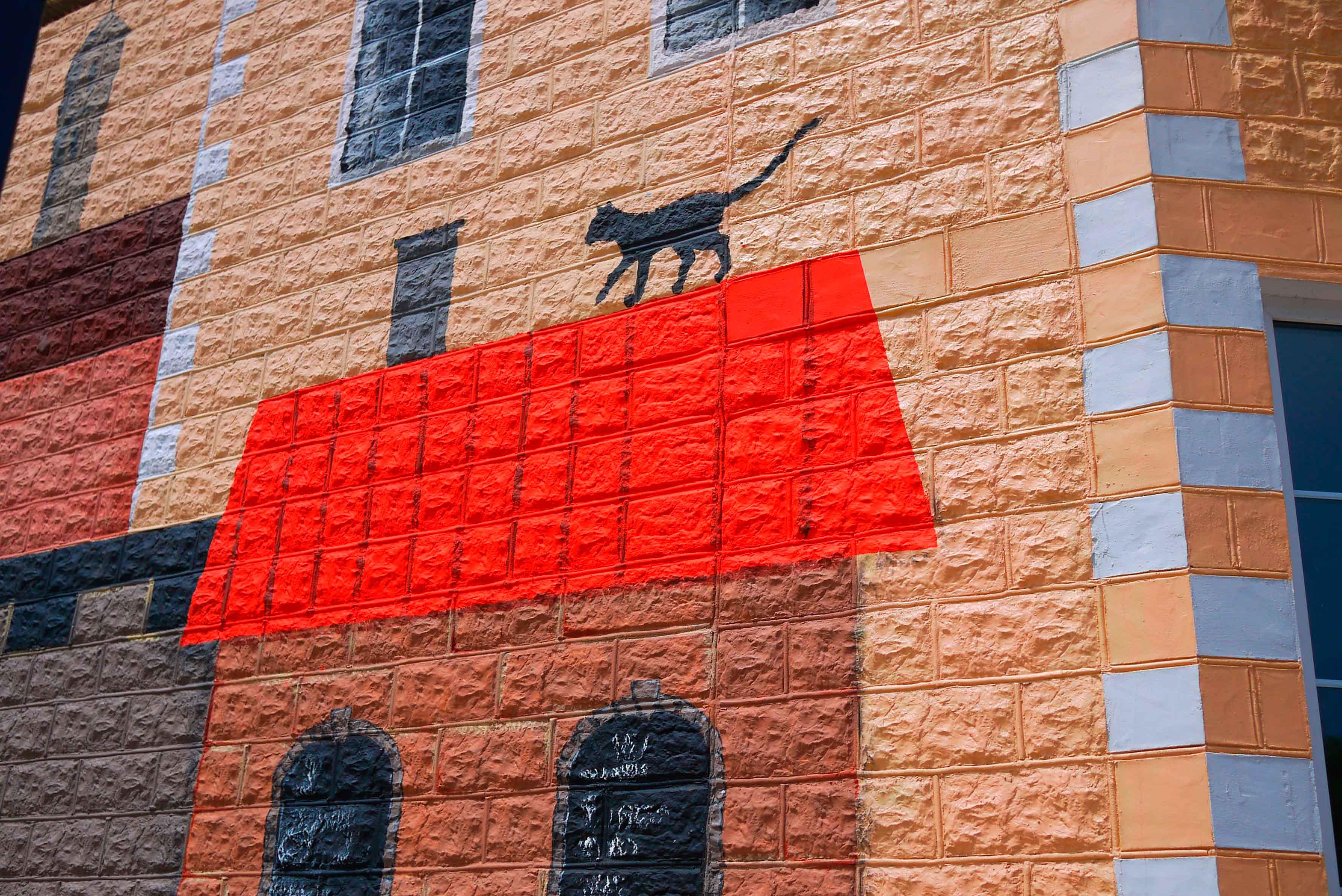 Роспись фасада художественная