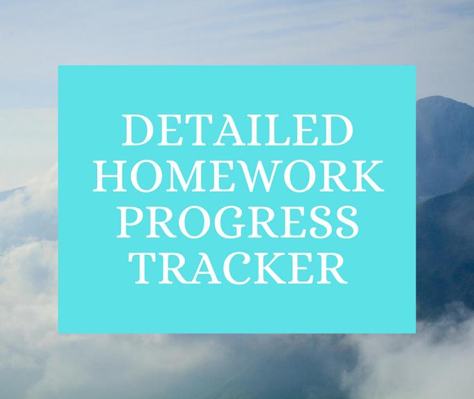 Homework Progress Tracker