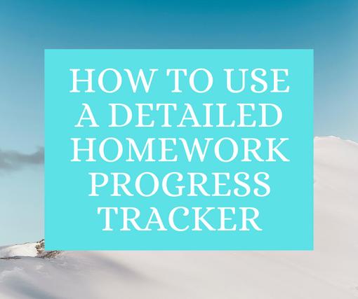 How to use Homework Tracker
