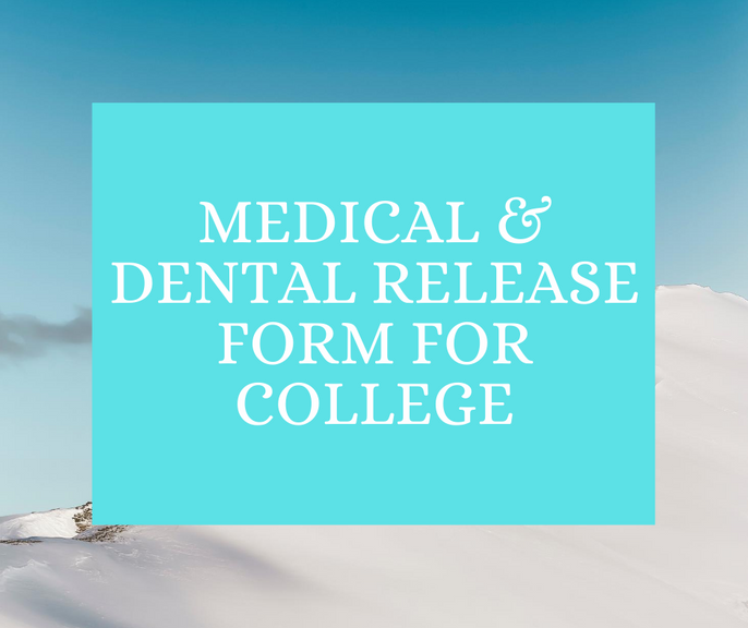 Medical & Dental Release Form