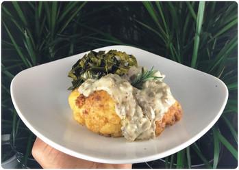 Fried Cauliflower & Mushroom Gravy 🌿
