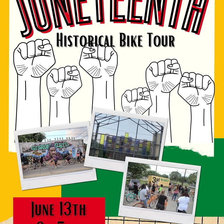 JUNETEENTH HISTORICAL BIKE TOUR   JUNE 13TH
