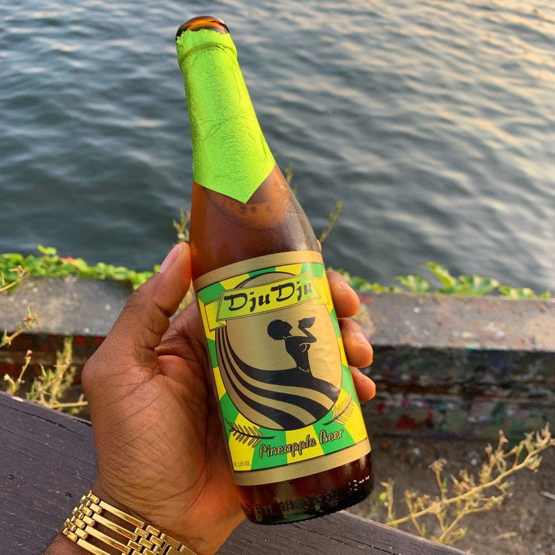 African DjuDju beer at YAAM Gallery in Berlin