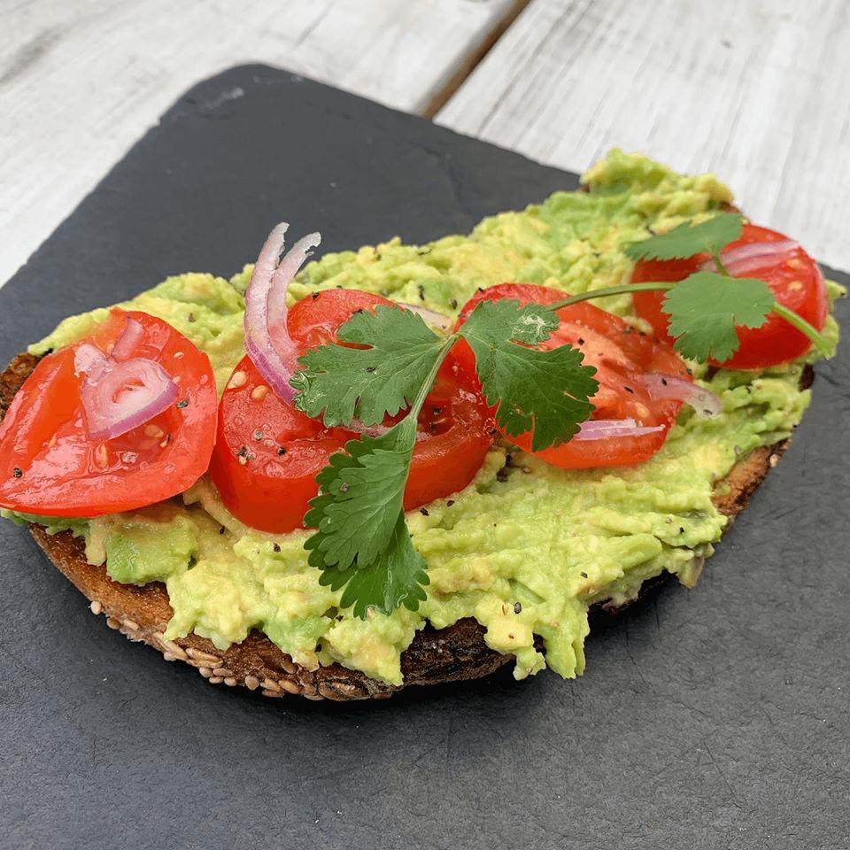 Avocado toast for breakfast at Retreat Kitchen