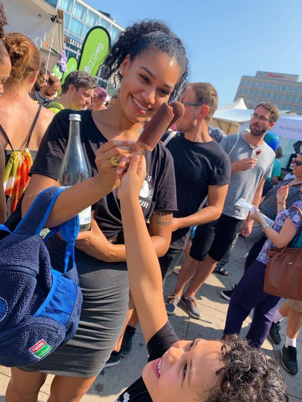 Free ice cream bars at Veganes Summerfest in Berlin