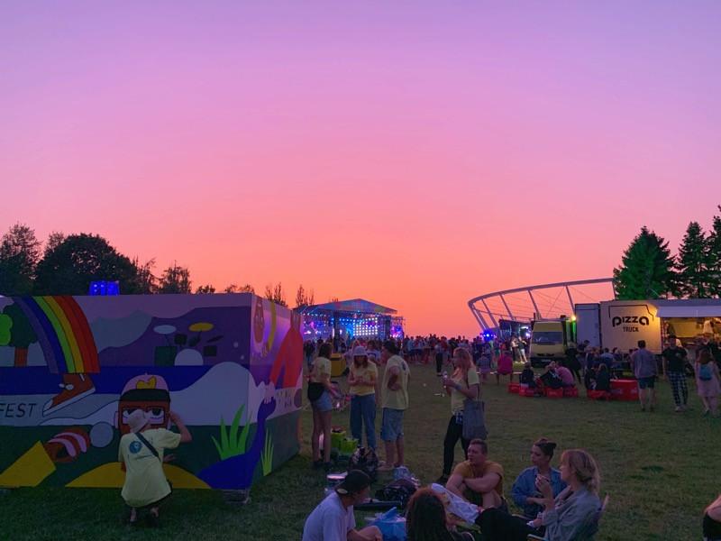 Sunset at Fest Festival in Poland