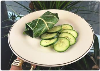 Collard Green Wraps ⓥ 🍃