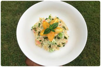 Creamy Cauliflower Pasta w/ Mixed Vegetables 🍲🌿