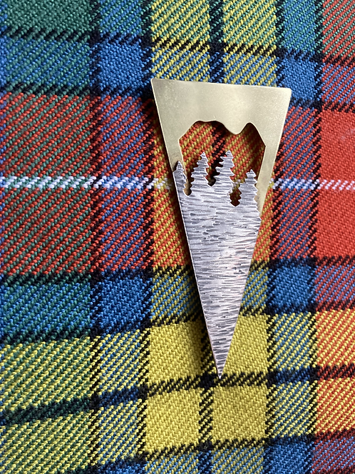 Mountain Range Kilt Pin