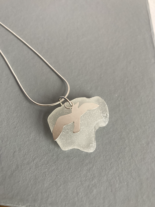 Seagull Seaglass necklace