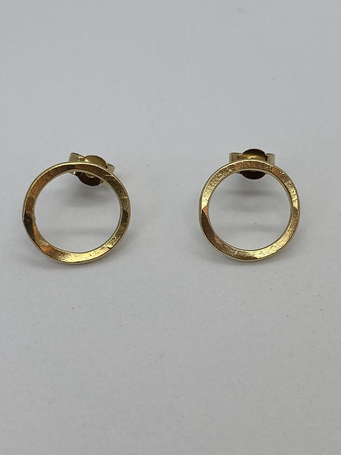 18ct Gold Plated Circle Studs