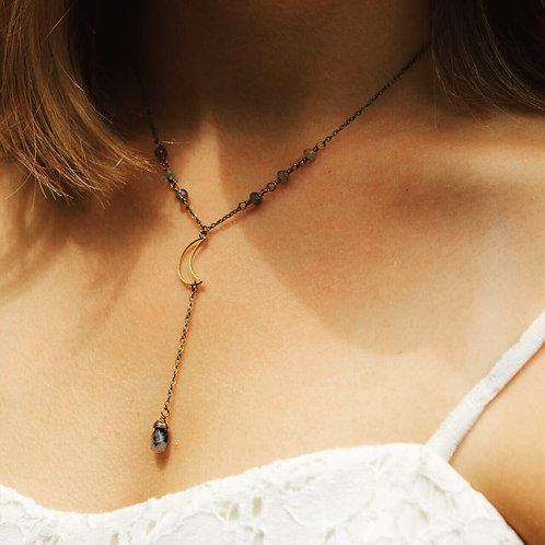 Moon drop necklace