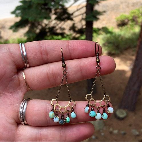 Peruvian goddess earrings