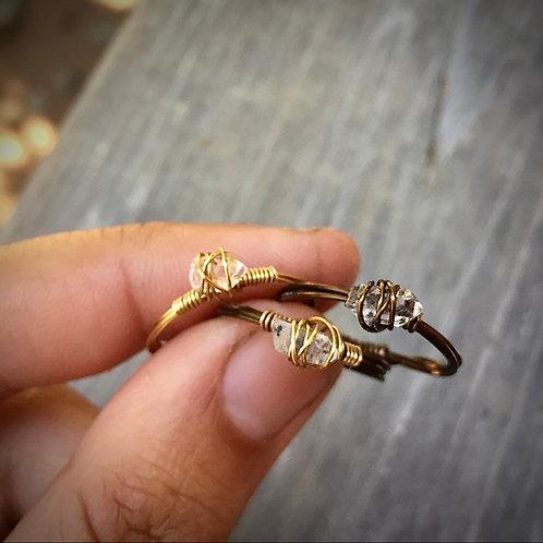 Herkimer Diamond rings