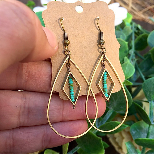 Bold turquoise earrings