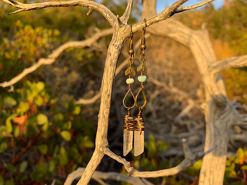Fall quartz earrings