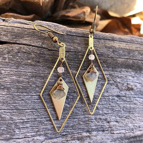 Retro-modern earrings