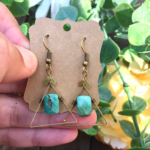 Geometric Turquoise Earrings