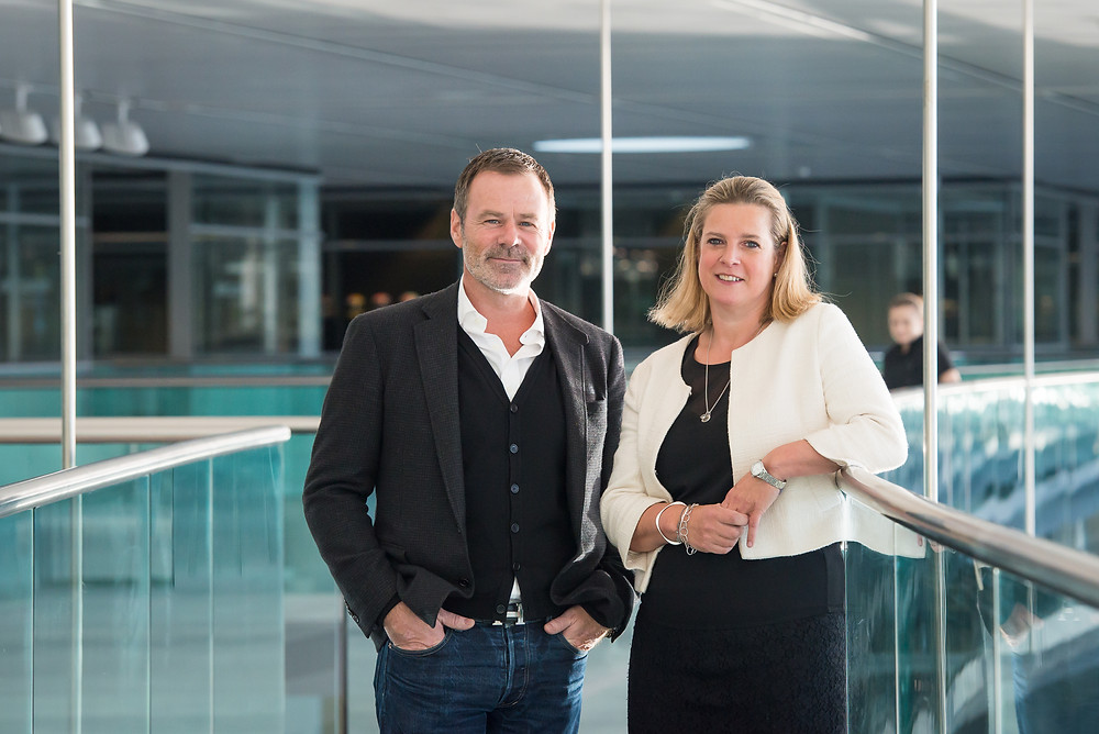 Neil MacLaurin (Chairman of One Event Management) and Lyndy Redding (Managing Director of Absolute Taste)
