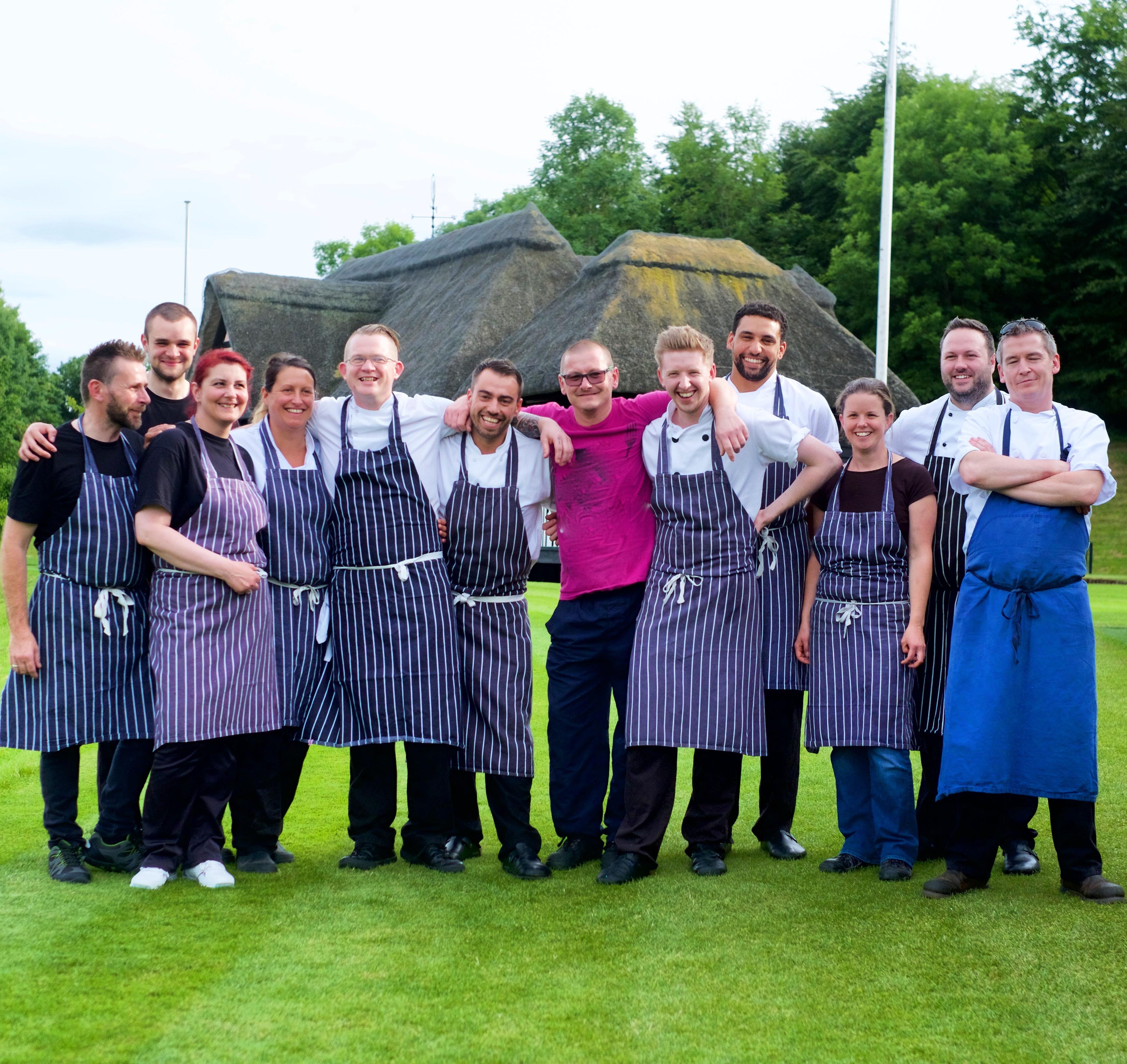 Kitchen Team at Wormsley Estate