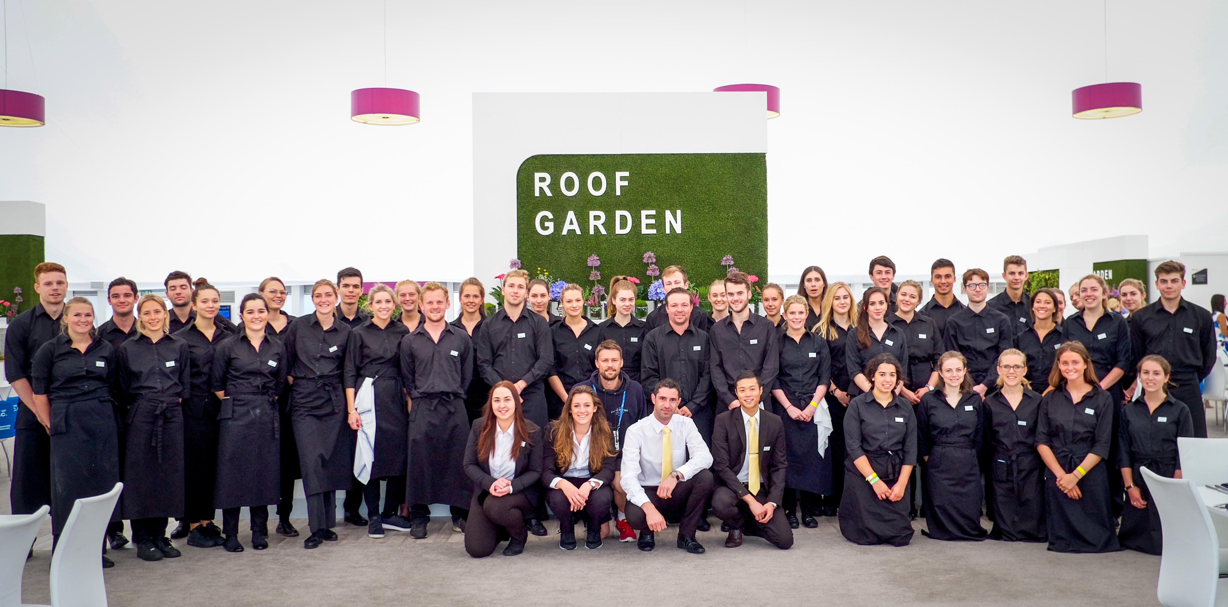 Roof Garden staff Aegon Championship