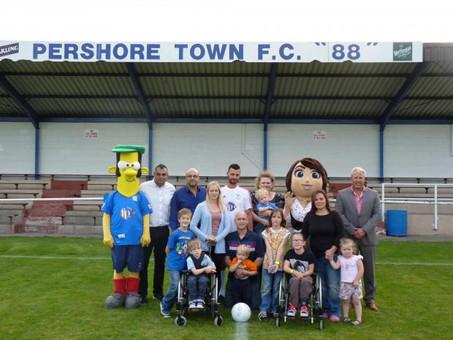 Evesham Vale Growers organise football match to help three town children walk