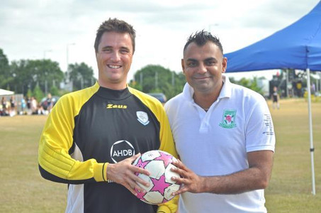 Footballing growers take on the pros