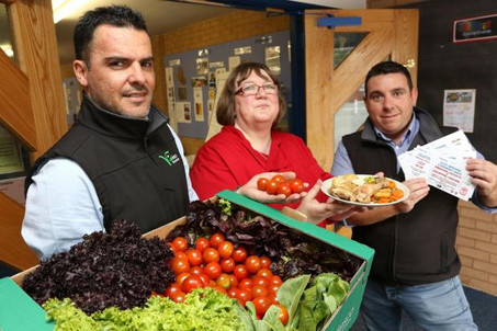 Vale salad growers hand out tickets for Liverpool legends football match