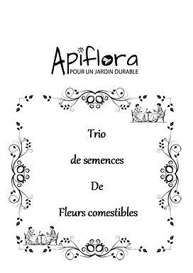 Pack Trio de semences de fleurs comestibles