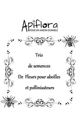 Pack Trio de semences de fleurs pour abeilles et pollinisateurs