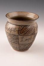 Hidden Leaves  4.5x4.5x4.5 Ceramics