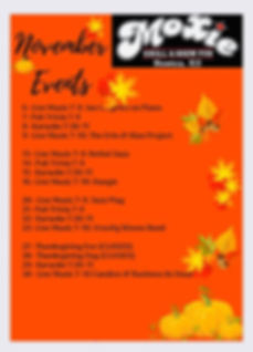 Moxie November, Events! We have a new Fr